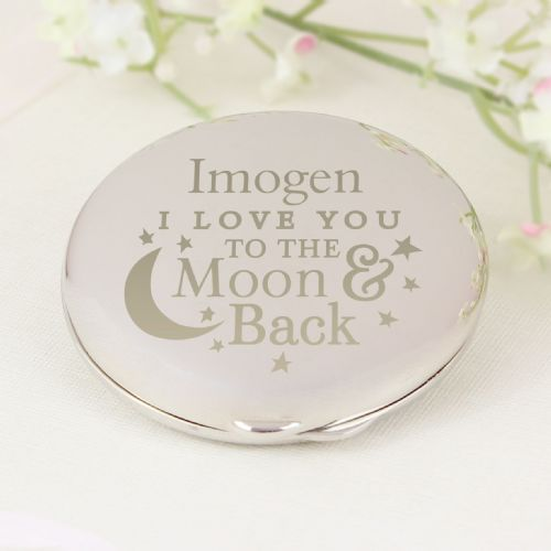 Personalised To the Moon and Back Round Compact